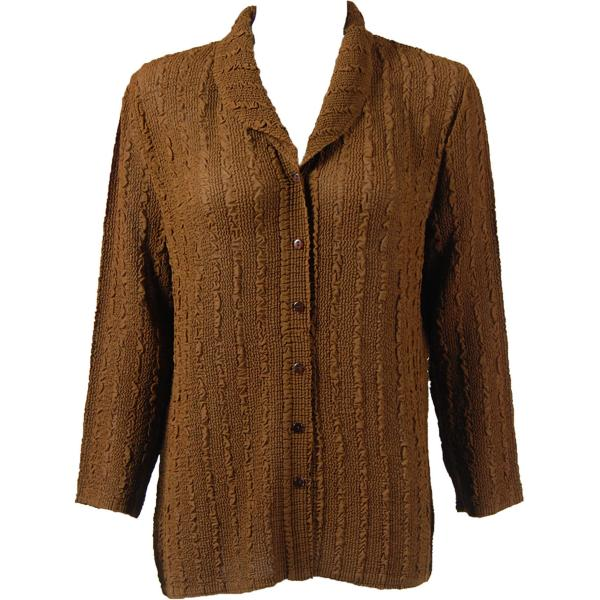 Magic Crush Georgette - Blouse* Solid Brown - One Size  Fits (S-M)
