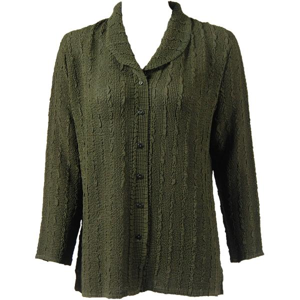 Magic Crush Georgette - Blouse* Solid Moss - One Size  Fits (S-M)