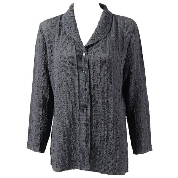 Magic Crush Georgette - Blouse* Solid Charcoal - One Size  Fits (S-M)