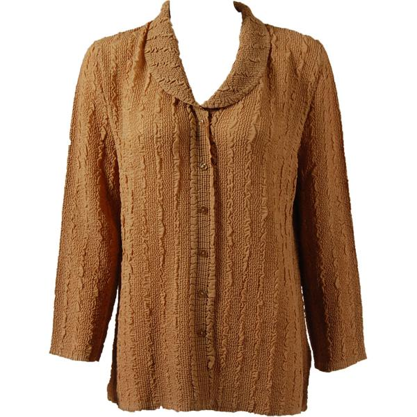 Magic Crush Georgette - Blouse* Solid Gold - One Size  Fits (S-M)