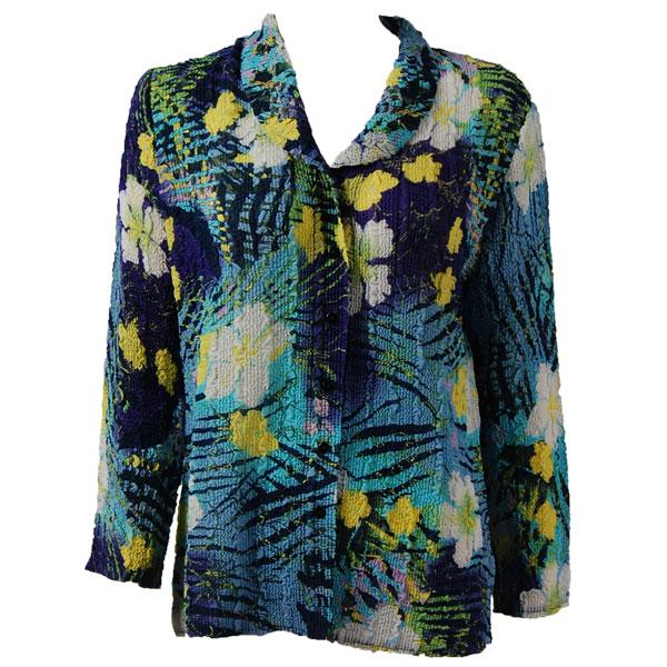 Magic Crush Georgette - Blouse* Blue-Purple Hawaiian  - One Size (L-XL)