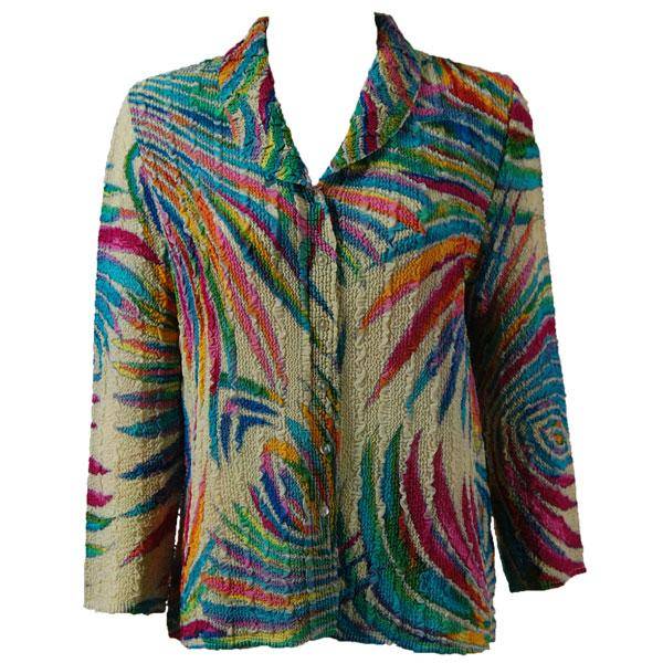 Magic Crush Georgette - Blouse* Rainbow Swirl on Ivory - One Size (L-XL)