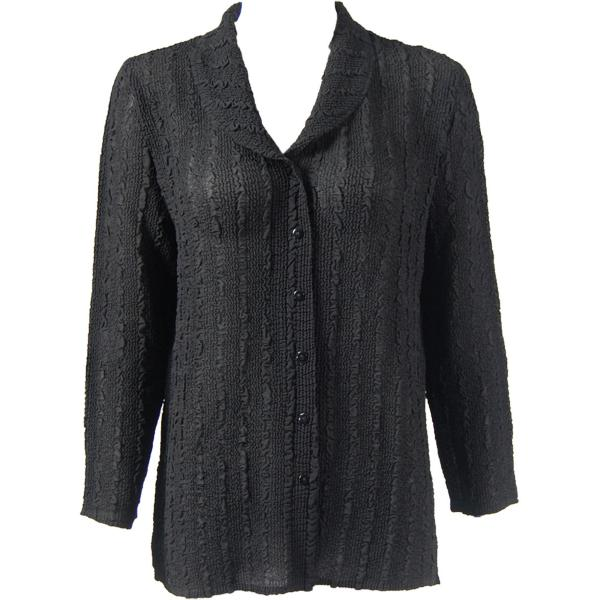 Magic Crush Georgette - Blouse* Solid Black - One Size (L-XL)