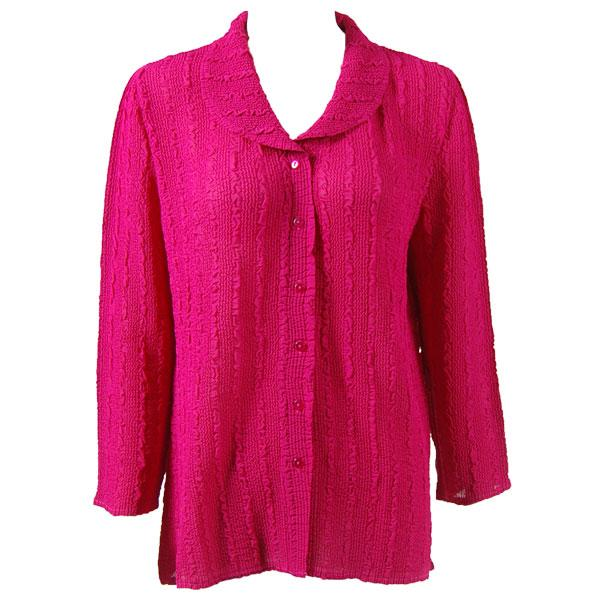 Magic Crush Georgette - Blouse* Solid Magenta - One Size (L-XL)