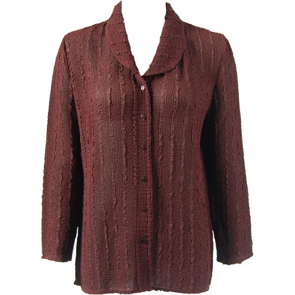 Magic Crush Georgette - Blouse* Solid Chestnut - One Size (L-XL)