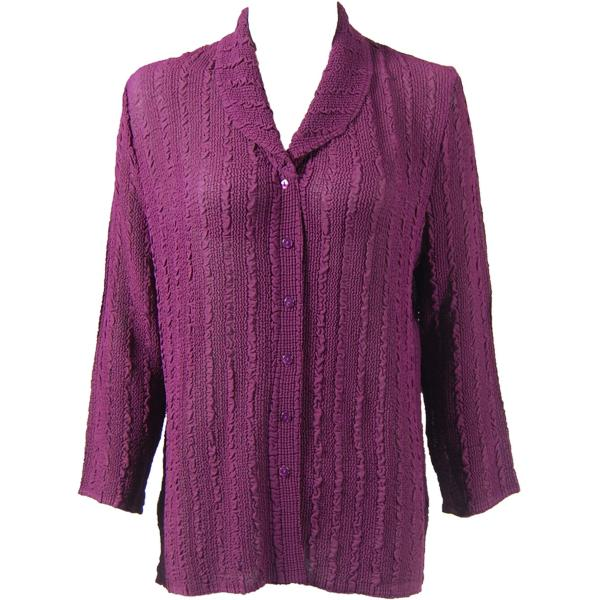 Magic Crush Georgette - Blouse* Solid Eggplant - One Size (L-XL)