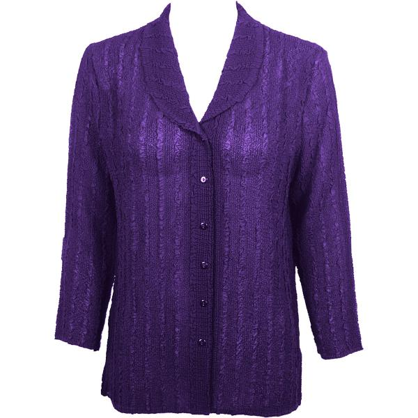 Magic Crush Georgette - Blouse* Solid Purple - One Size  Fits (S-M)