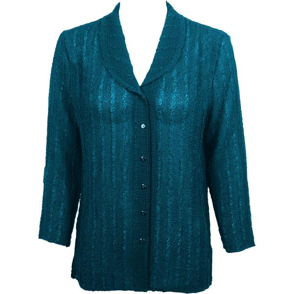 Magic Crush Georgette - Blouse* Solid Teal - One Size  Fits (S-M)