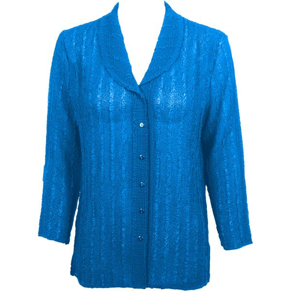 Magic Crush Georgette - Blouse* Solid Cornflower Blue - One Size  Fits (S-M)