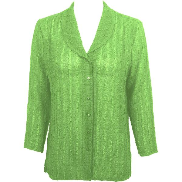 Magic Crush Georgette - Blouse* Solid Lime - One Size  Fits (S-M)