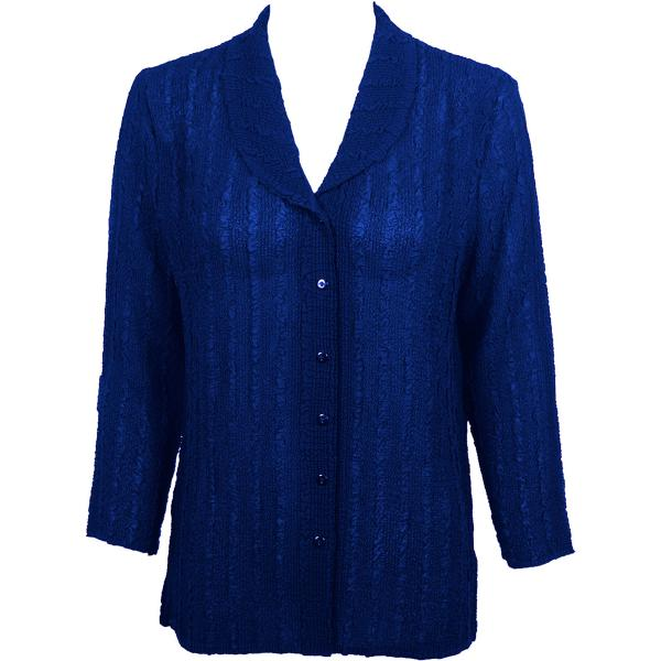 Magic Crush Georgette - Blouse* Solid Royal - One Size  Fits (S-M)