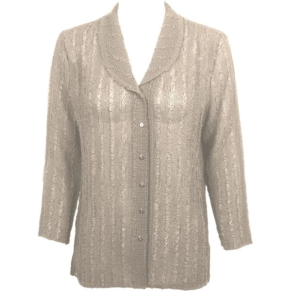 Magic Crush Georgette - Blouse* Solid Beige - One Size  Fits (S-M)