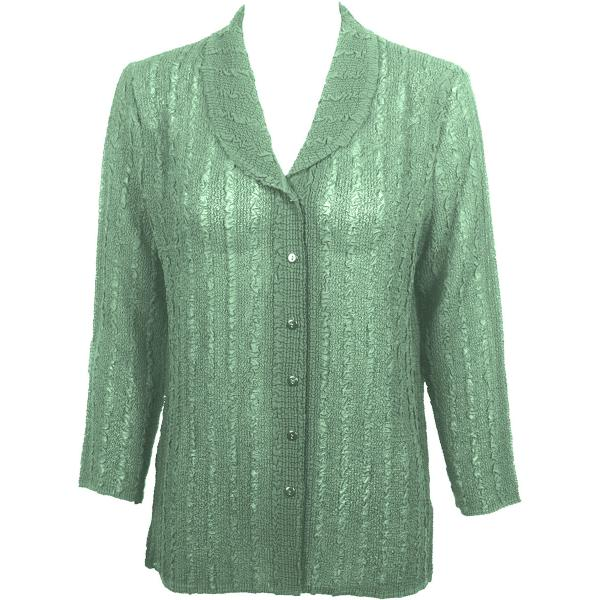 Magic Crush Georgette - Blouse* Solid Light Moss - One Size  Fits (S-M)