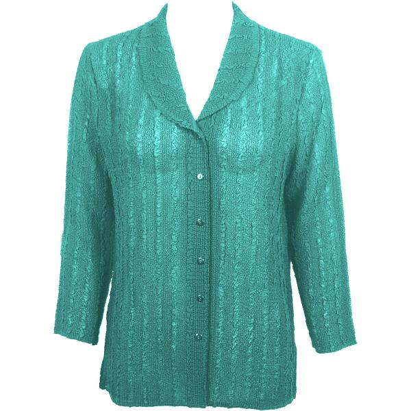 Magic Crush Georgette - Blouse* Solid Seafoam - One Size  Fits (S-M)