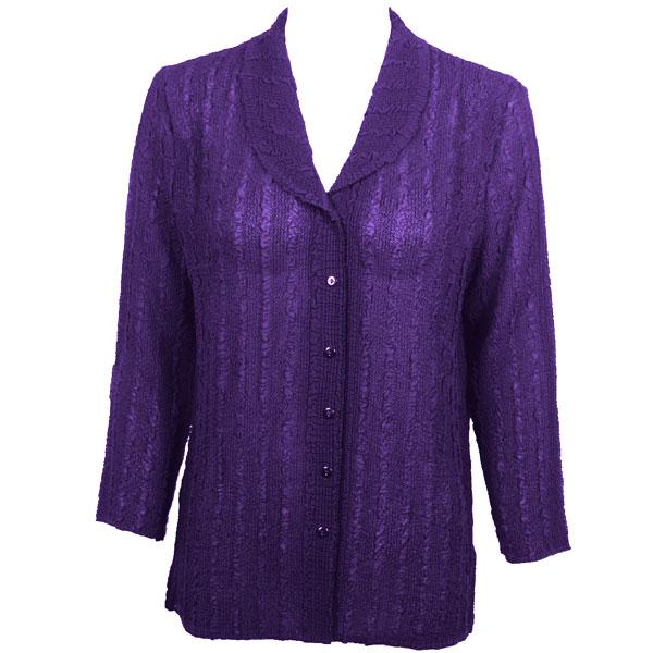 Magic Crush Georgette - Blouse* Solid Purple - One Size (L-XL)