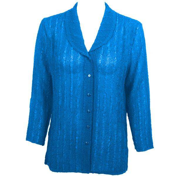 Magic Crush Georgette - Blouse* Solid Cornflower Blue - One Size (L-XL)