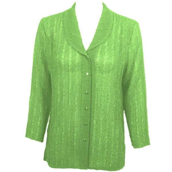 Magic Crush Georgette - Blouse* Solid Lime - One Size (L-XL)