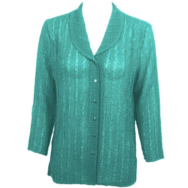 Magic Crush Georgette - Blouse* Solid Seafoam - One Size (L-XL)
