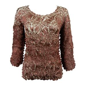 Satin Origami - Three Quarter Sleeve Chocolate - Champagne - One Size (S-XL)