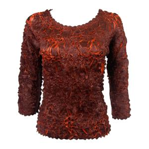 Satin Origami - Three Quarter Sleeve Java - Paprika - One Size (S-XL)
