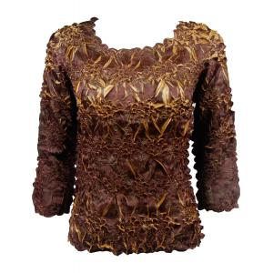 Satin Origami - Three Quarter Sleeve Java - Gold - One Size (S-XL)