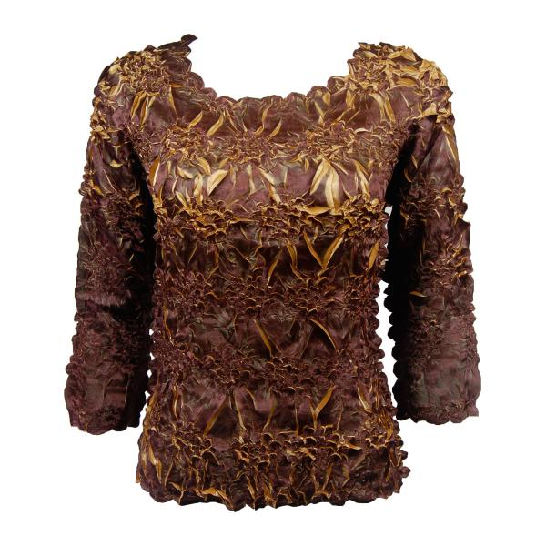 wholesale Satin Origami - Three Quarter Sleeve Java - Gold - One Size (S-XL)