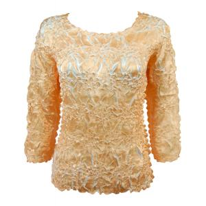 Satin Origami - Three Quarter Sleeve Gold - Pearl - One Size (S-XL)