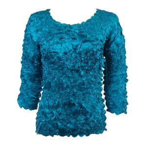 Satin Origami - Three Quarter Sleeve Solid Teal - One Size (S-XL)