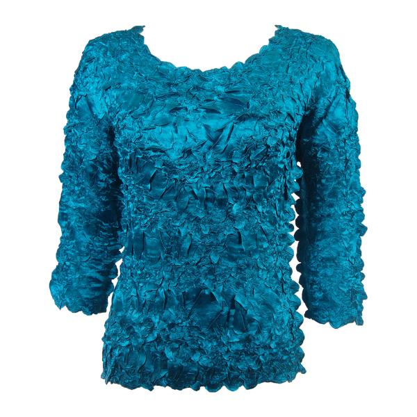 wholesale Satin Origami - Three Quarter Sleeve Solid Teal - One Size (S-XL)