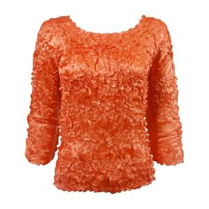 Satin Origami - Three Quarter Sleeve Solid Paprika - One Size (S-XL)