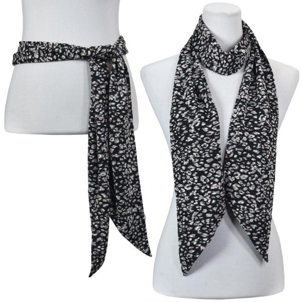 wholesale Slinky Scarf/Sash* Leopard Black-White -