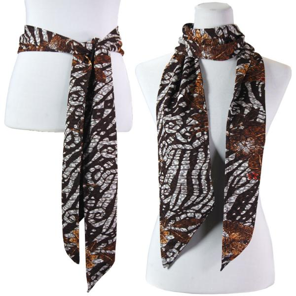 wholesale Slinky Scarf/Sash* Zebra Floral - Brown -