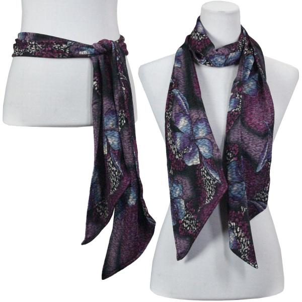 wholesale Slinky Scarf/Sash* Hibiscus Purple -