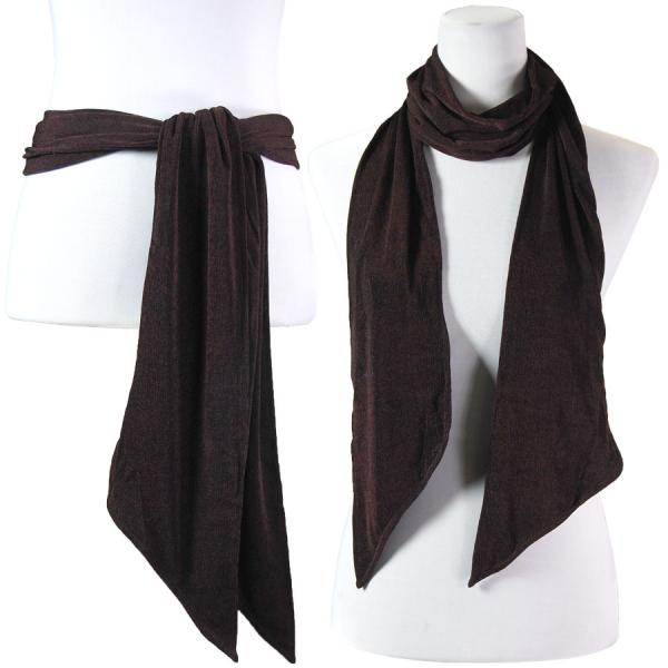 wholesale Slinky Scarf/Sash* Dark Brown -