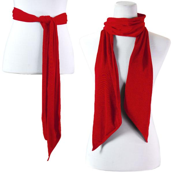 wholesale Slinky Scarf/Sash* Red -