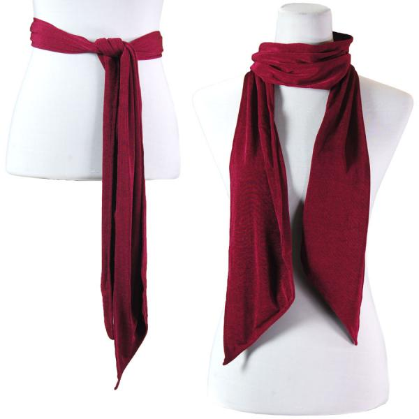 wholesale Slinky Scarf/Sash* Wine -