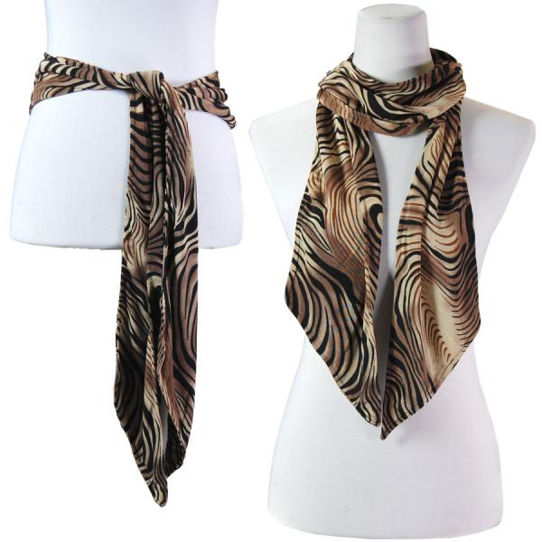 wholesale Slinky Scarf/Sash* Swirl Animal - Beige -
