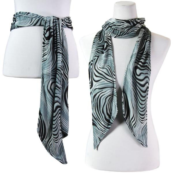 wholesale Slinky Scarf/Sash* Swirl Animal - Charcoal -