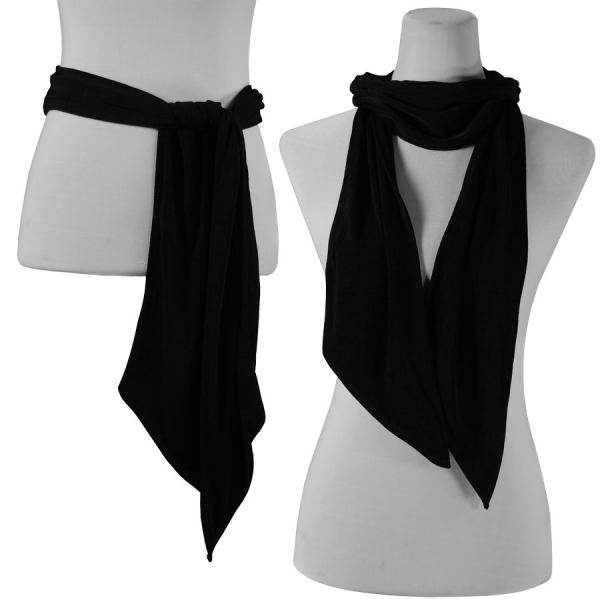wholesale Slinky Scarf/Sash* Black -
