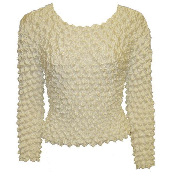 wholesale Overstock and Clearance Tops Gourmet Popcorn Long Sleeve - Vanilla - One Size (XS-L)