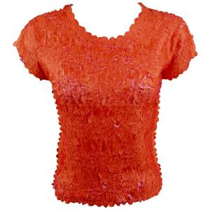 wholesale Overstock and Clearance Tops Origami Cap Sleeve - Orange-Flamingo - Queen Size Fits (XL-3X)
