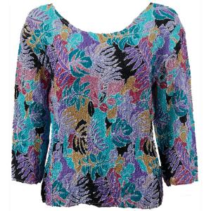 wholesale Overstock and Clearance Tops Magic Crush Silky Touch Three Quarter - Tropical Breeze - Plus Size Fits (XL-2X)
