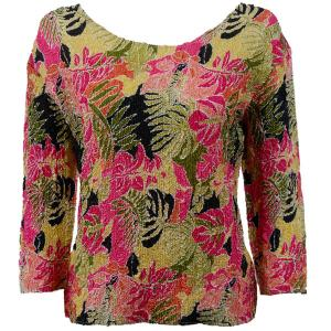 wholesale Overstock and Clearance Tops Magic Crush Silky Touch Three Quarter - Tropical Heat - Plus Size Fits (XL-2X)