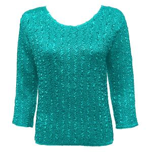 wholesale Overstock and Clearance Tops Magic Crush Silky Touch Three Quarter - Solid Bright Teal - One Size (S-L)