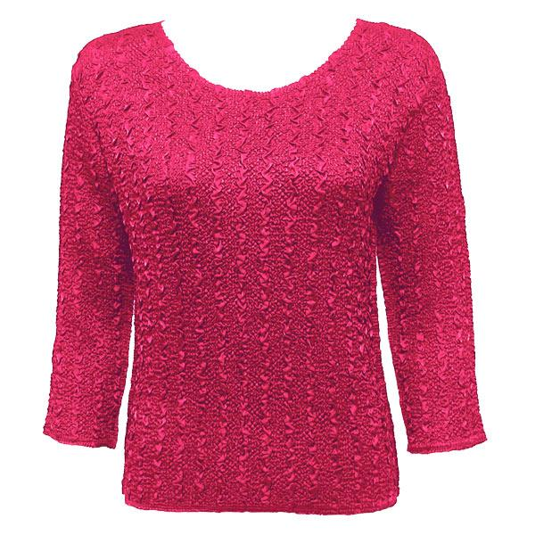 wholesale Overstock and Clearance Tops Magic Crush Silky Touch Three Quarter - Solid Hot Pink - One Size Fits (S-L)