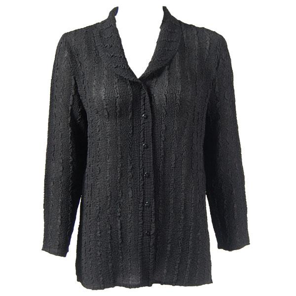 wholesale Overstock and Clearance Tops Magic Crush Georgette Blouse - Solid Black - One Size  Fits (S-M)