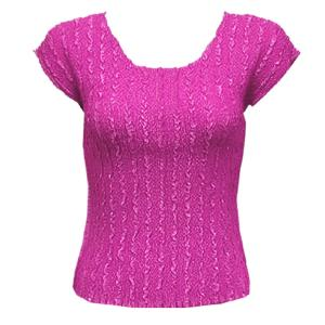 wholesale Overstock and Clearance Tops Magic Crush Satin Cap Sleeve - Solid Raspberry Sherbert - One Size (S-L)