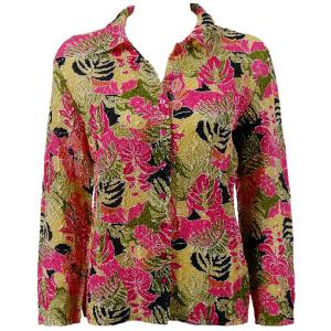 wholesale Overstock and Clearance Tops Ultra Light Crush Silky Touch Blouse - Tropical Heat - One Size (S-L)
