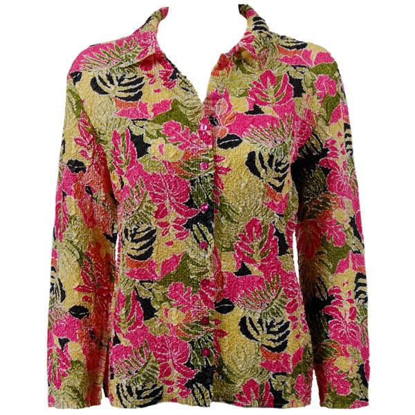 wholesale Overstock and Clearance Tops Ultra Light Crush Silky Touch Blouse - Tropical Heat - One Size Fits  (S-L)