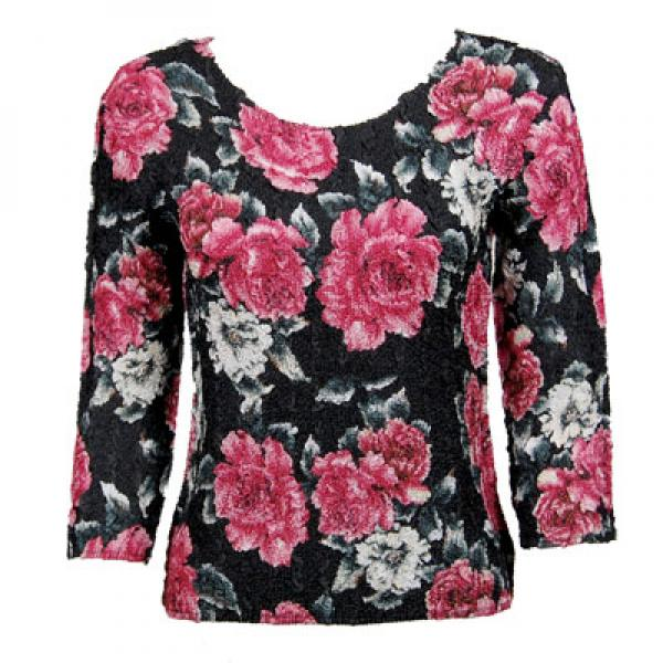 wholesale Overstock and Clearance Tops Magic Crush Silky Touch Three Quarter - Pink Floral - One Size Fits (S-L)